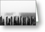 Gameroom Greeting Cards - Memories and Fog Greeting Card by Bob Orsillo