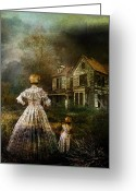 Ghostly Greeting Cards - Memories Greeting Card by Karen Koski