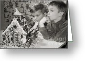 Claus Greeting Cards - Memories of a special Christmas Greeting Card by Christine Till