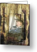 Soldier  Pictures Greeting Cards - Memories of War Greeting Card by Rose  Hill