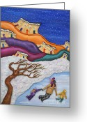 Ice Skates Greeting Cards - Memories On Ice Greeting Card by Anne Klar