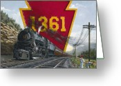 Locomotive Greeting Cards - Memories Relived Greeting Card by David Mittner