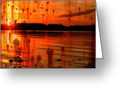 Abstract Framed Prints Framed Prints Greeting Cards - Memories Shall Not Rust Greeting Card by Jerry Cordeiro