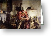 Reminiscing Greeting Cards - Memories Greeting Card by Walter Langley