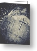 Churchyard Greeting Cards - Memory Greeting Card by Odd Jeppesen