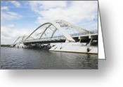 Dolly Parton Greeting Cards - Memphis Arkansas Bridge, Netherlands Greeting Card by Colin Cuthbert