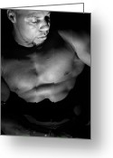 Black And White Nude Photo Greeting Cards - Men in Black Greeting Card by Jake Hartz