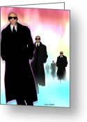Men In Black Greeting Cards - Men In Black Greeting Card by Victor Habbick Visions