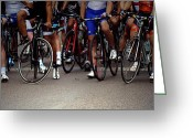 Cycling Greeting Cards - Men in Waiting Greeting Card by Steven  Digman