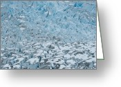 Crevice Greeting Cards - Mendenhall Glacier Greeting Card by Peter Olsen