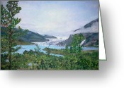 Teresa Dominici Greeting Cards - Mendenhall Glacier Greeting Card by Teresa Dominici