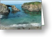 Natural Formation Greeting Cards - Mendicino County Viewpoint Greeting Card by Sandra Bronstein