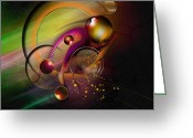 Stars Digital Art Greeting Cards - Mene Teckel Greeting Card by Franziskus Pfleghart
