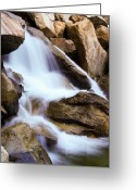 Yosemite Creek Greeting Cards - Merced Mist Greeting Card by Adam Pender