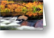 Autumn Scenes Greeting Cards - Merced River Autumn Greeting Card by Floyd Hopper