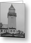 Merced County Greeting Cards - Merced Theatre Merced CA Greeting Card by Troy Montemayor