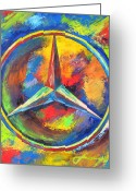 Transportation Mixed Media Greeting Cards - MERCEDES BENZ - The BEST or NOTHING Greeting Card by Dan Haraga