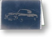 Mercedes Benz 300 Sl Classic Car Greeting Cards - Mercedes Benz 300 SL Greeting Card by Irina  March