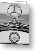  Collector Hood Ornaments Greeting Cards - Mercedes Benz Hood Ornament 2 Greeting Card by Jill Reger