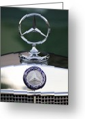 Car Mascot Greeting Cards - Mercedes Benz Hood Ornament 3 Greeting Card by Jill Reger