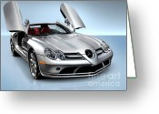Showcase Greeting Cards - Mercedes Benz SLR McLaren Greeting Card by Oleksiy Maksymenko