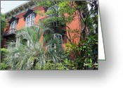 Williams Photo Greeting Cards - Mercer Williams House-Savannah GA Greeting Card by Suzanne Gaff