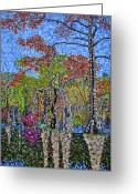 Carolina Painting Greeting Cards - Merchants Millpond State Park 1 Greeting Card by Micah Mullen
