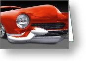 Street Rod Greeting Cards - Mercury Low Rider Greeting Card by Mike McGlothlen