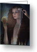 Jewelry Greeting Cards - Mermaid Greeting Card by Jane Whiting Chrzanoska