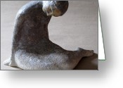 Female Sculpture Greeting Cards - Mermaid Greeting Card by Raimonda Jatkeviciute-Kasparaviciene