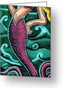Esson Greeting Cards - Mermaid With Pearl Greeting Card by Genevieve Esson
