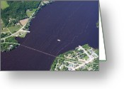 Merrimac Greeting Cards - Merrimac Ferry to North Greeting Card by Bill Lang