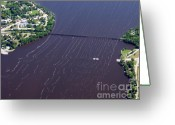 Merrimac Greeting Cards - Merrimac Ferry to South Greeting Card by Bill Lang