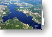 Merrimac Greeting Cards - Merrimac with Wisconsin River Greeting Card by Bill Lang