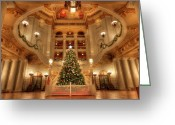 Harrisburg Greeting Cards - Merry Christmas from Pennsylvania Greeting Card by Lori Deiter