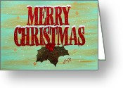 Ornaments Painting Greeting Cards - Merry Christmas Greeting Card by Georgeta  Blanaru