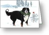 Winter Sleep Greeting Cards - Merry Christmas Greeting Card by Liane Weyers