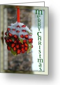 Seasonal Greeting Cards Greeting Cards - Merry Christmas Greeting Card by Lisa Knechtel