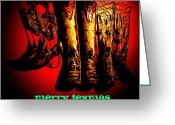Cowboy Boots Greeting Cards - Merry Texmas Greeting Card by Chris Berry