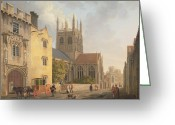 Coach Greeting Cards - Merton College - Oxford Greeting Card by Michael Rooker