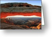 Mesa Greeting Cards - Mesa Arch Canyonlands N.p Greeting Card by Proframe Photography