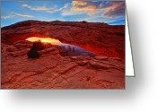Ute Greeting Cards - Mesa Arch Greeting Card by Jennifer Grover