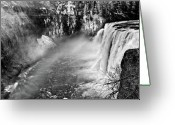 Black Mesa Greeting Cards - Mesa Falls Greeting Card by Greg Norrell