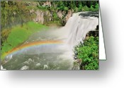 Yellowstone Landscape Art Greeting Cards - Mesa Falls II Greeting Card by Greg Norrell