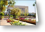 Mormon Temple Photography Greeting Cards - Mesa Spring Greeting Card by La Rae  Roberts