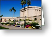 Mormon Temple Photography Greeting Cards - Mesa Temple Angle Greeting Card by La Rae  Roberts