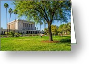 Mormon Temple Photography Greeting Cards - Mesa Temple Tree of Life Greeting Card by La Rae  Roberts
