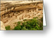 Pueblos Greeting Cards - Mesa Verde Cliff Dwelling Greeting Card by Sean Cupp