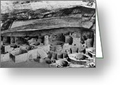 Anasazi Greeting Cards - Mesa Verde: Cliff Palace Greeting Card by Granger