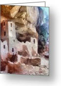Native Architecture Greeting Cards - Mesa Verde Greeting Card by Jeff Kolker